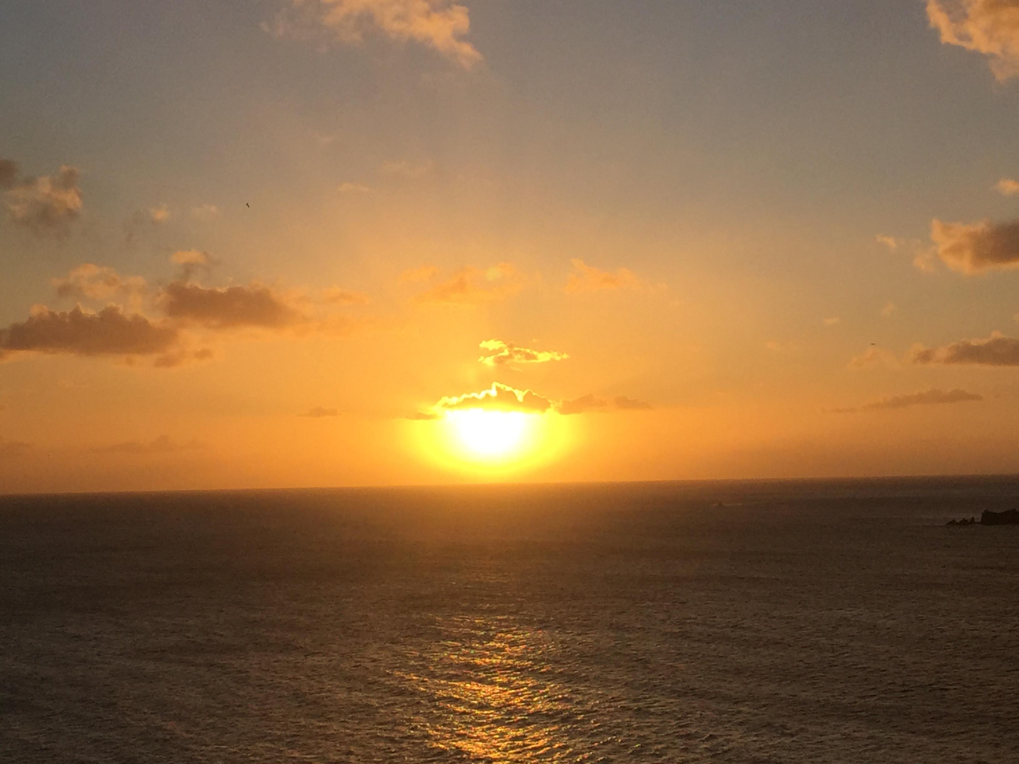 Atardecer en el Caribe en el Crucero MSC Divina