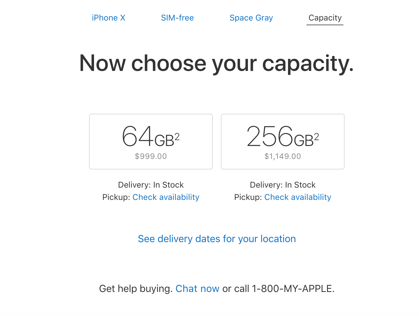 iPhone X en Apple Store