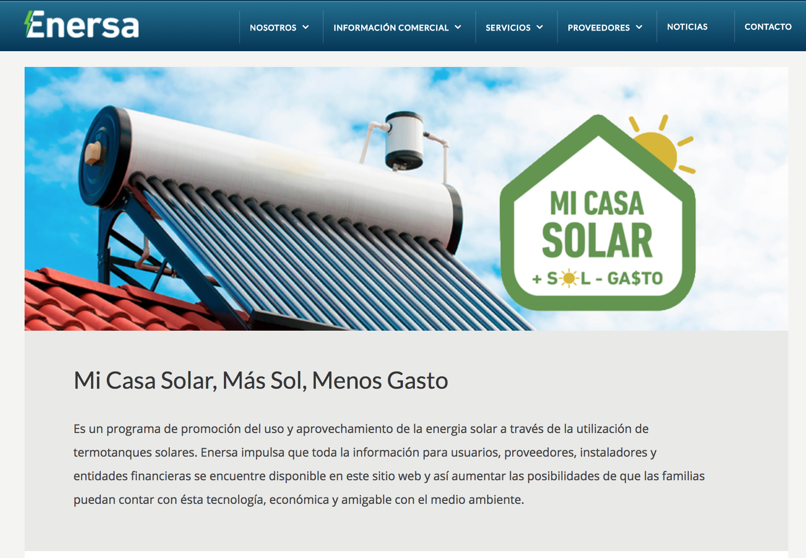 """""""Mi Casa Solar, Más Sol, Menos Gasto"""""""