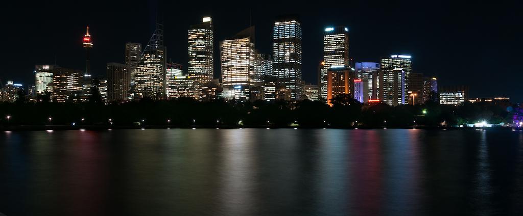 Skyline de Sidney desde la bahía