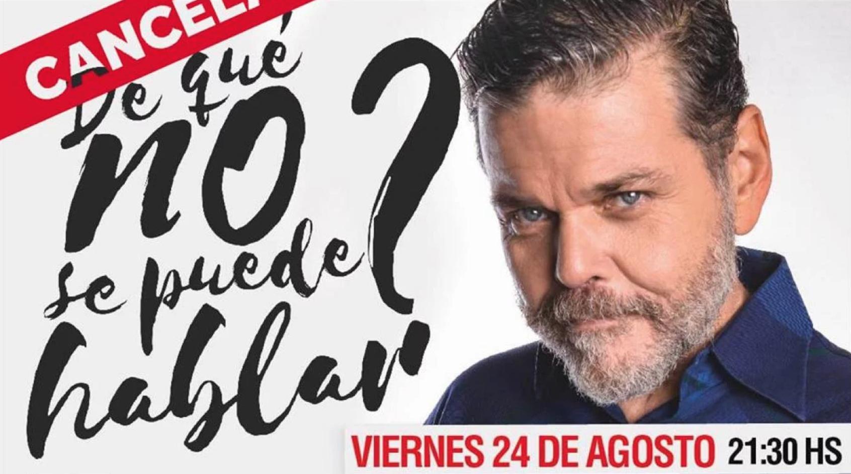 Cancelan shows de Alfredo Casero: La venganza tiene forma de censura