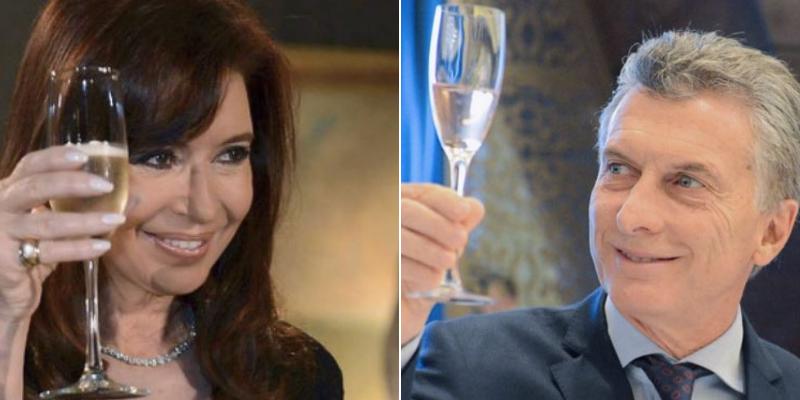 En el mes de sus cumpleaños, los saludos a Macri y Cristina anticiparon el escenario electoral para las presidenciales