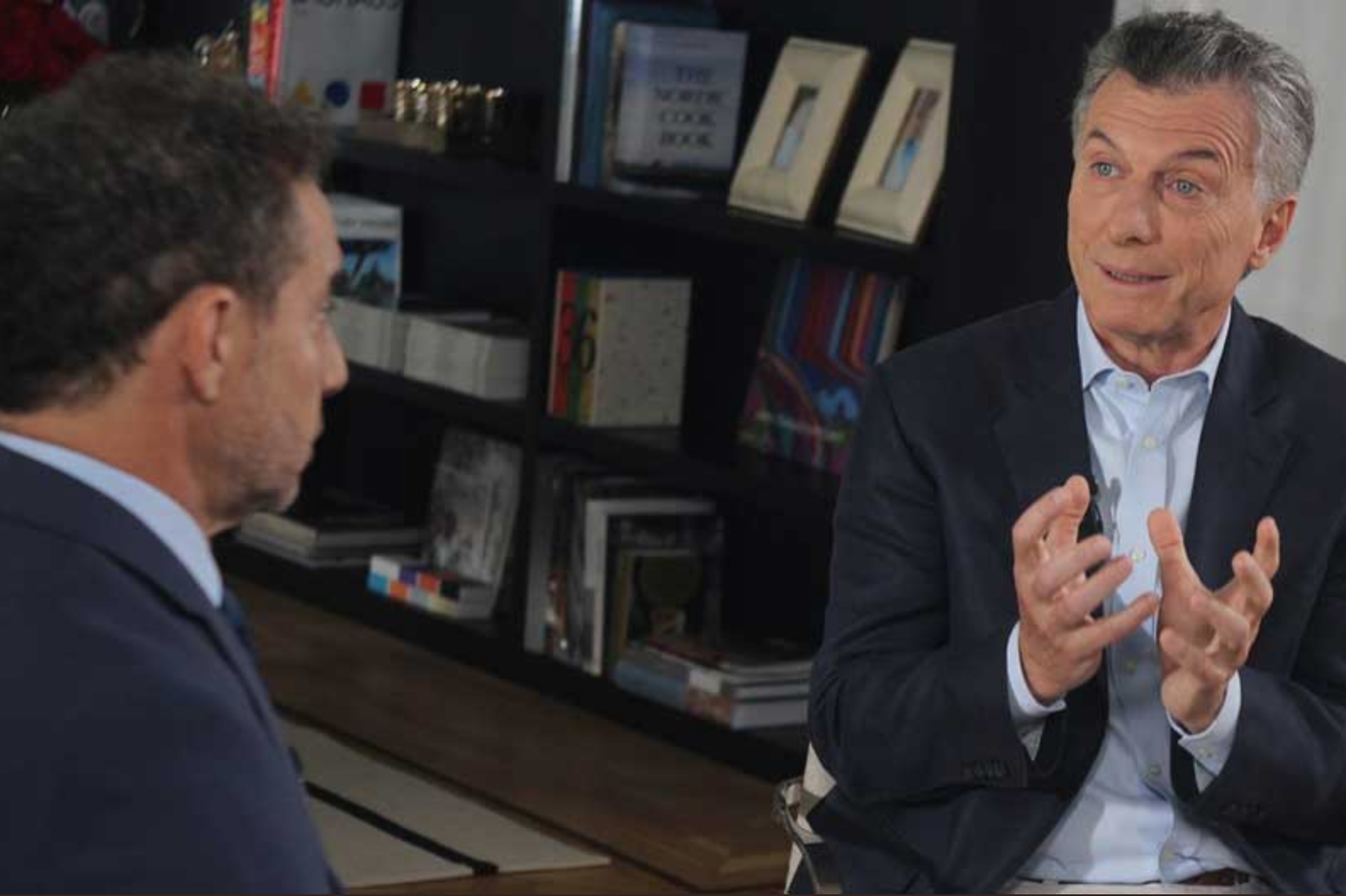 Mauricio Macri con Luis Majul. Impacto en Redes Sociales