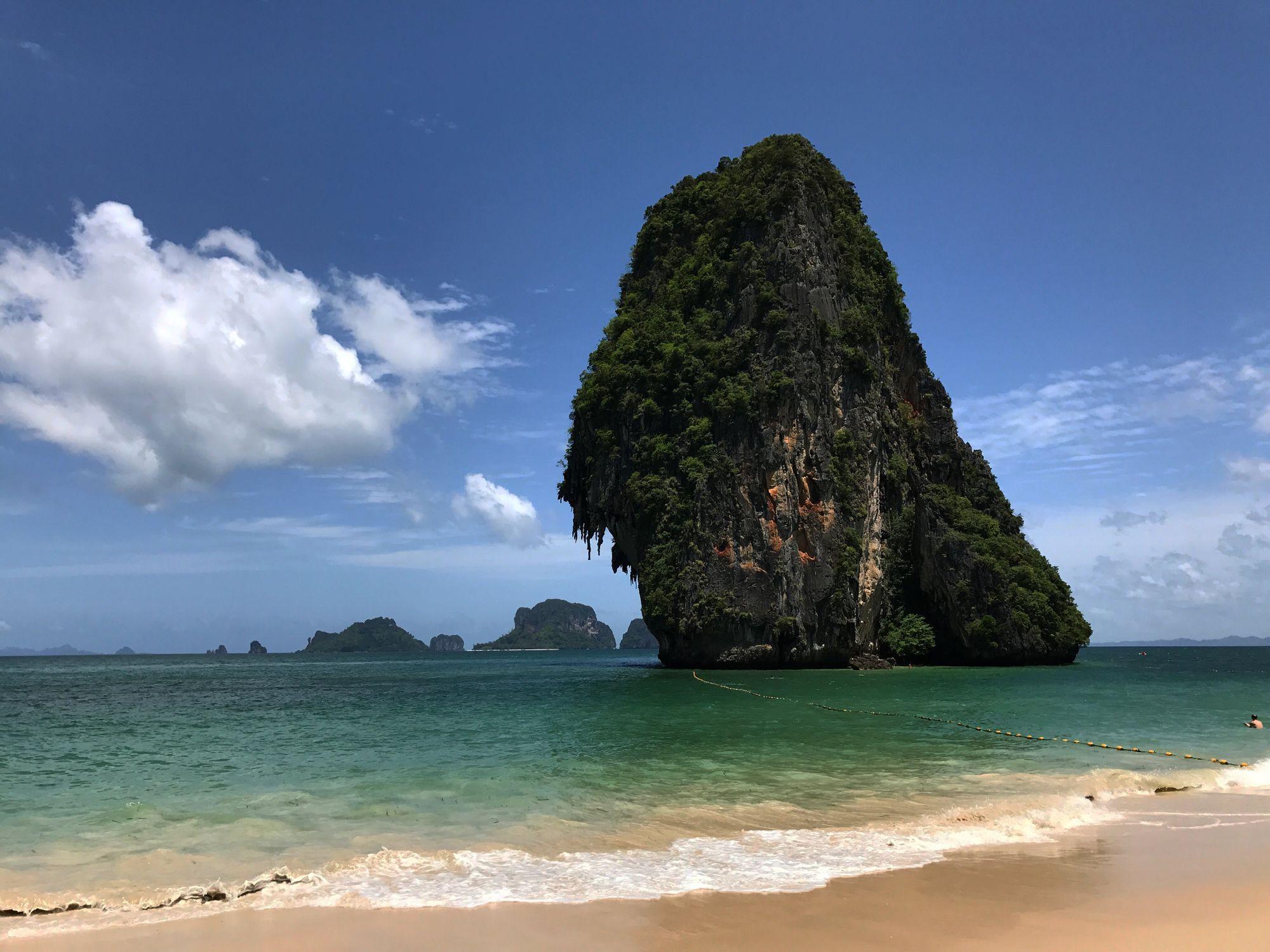 La impresionante geografía de Tailandia.La protagonista principal de Krabi