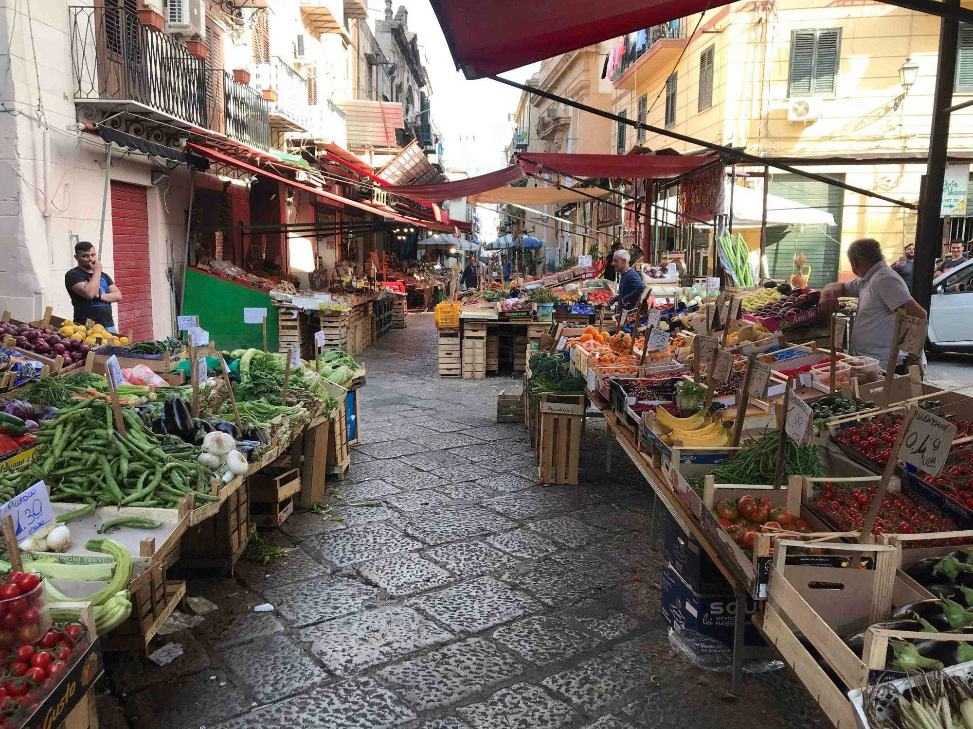 Dos noches en Palermo, Sicilia