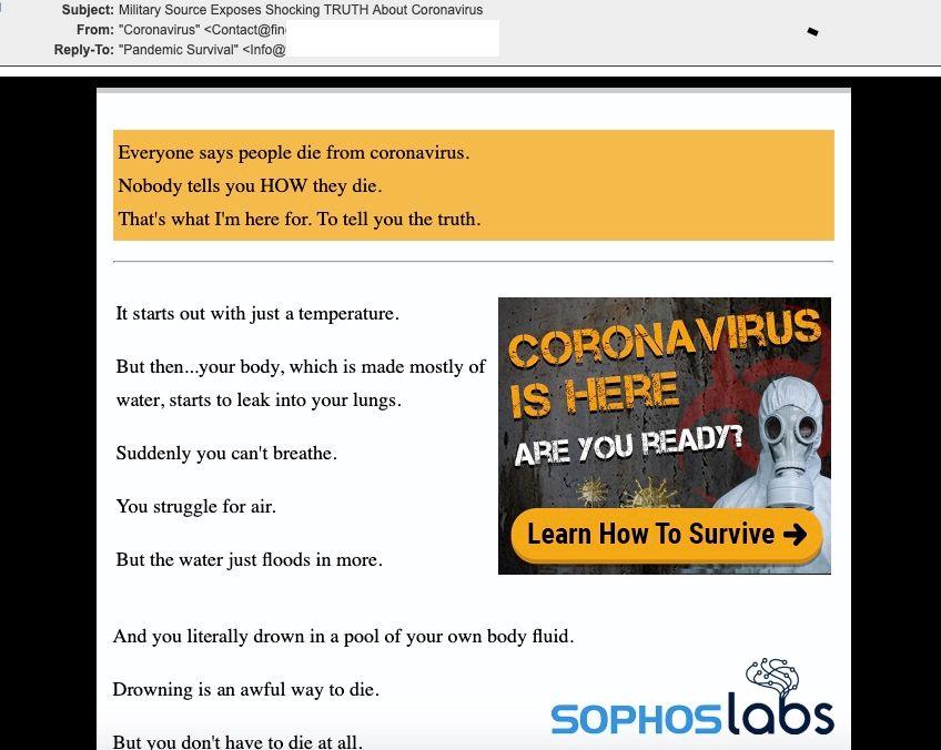 Campaña de spam con el Covid-19