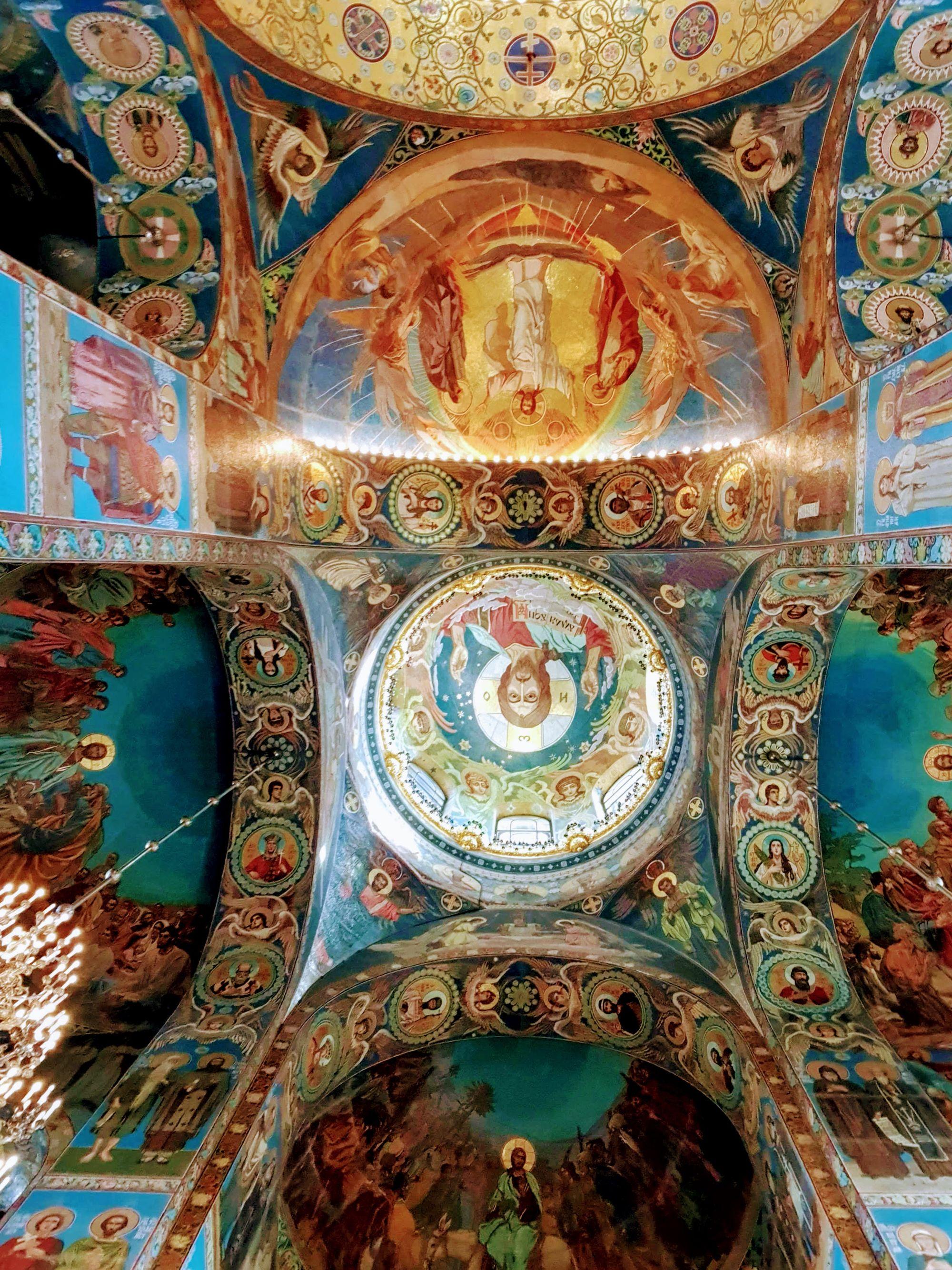 interior de la Iglesia del Salvador sobre la sangre derramada