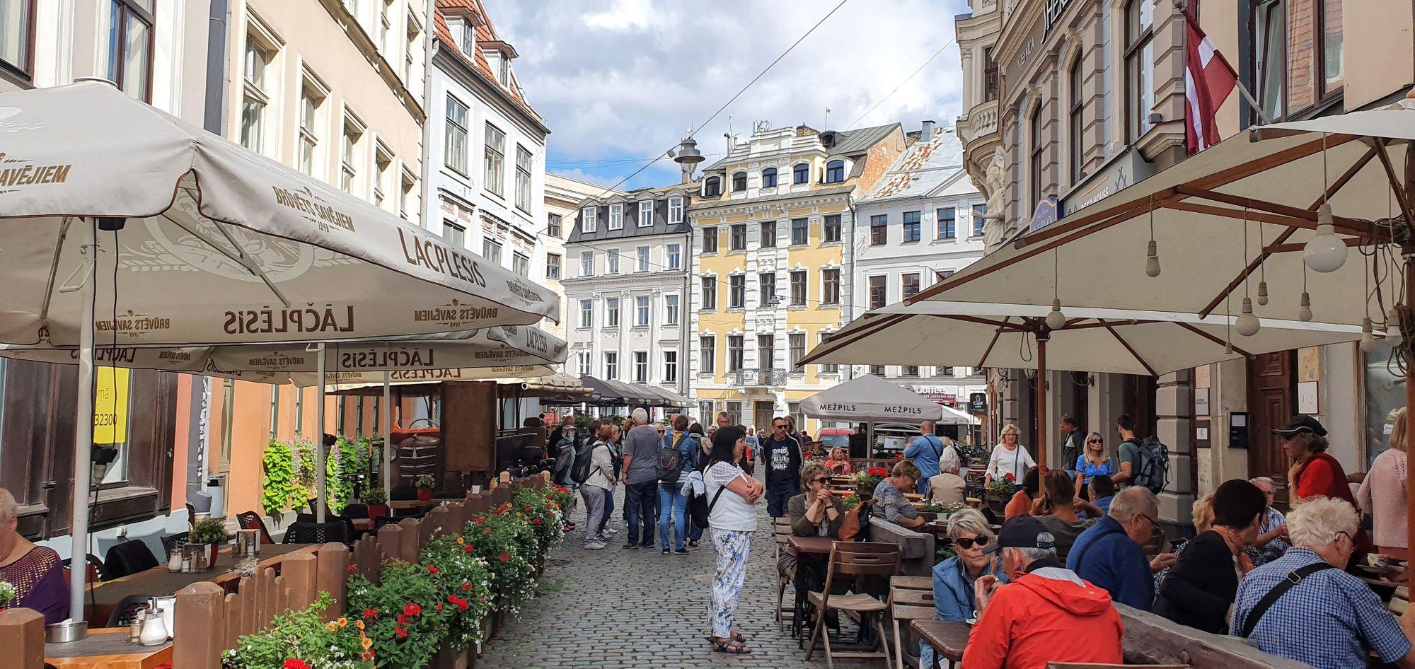 Las calles con encanto de Riga, Letonia