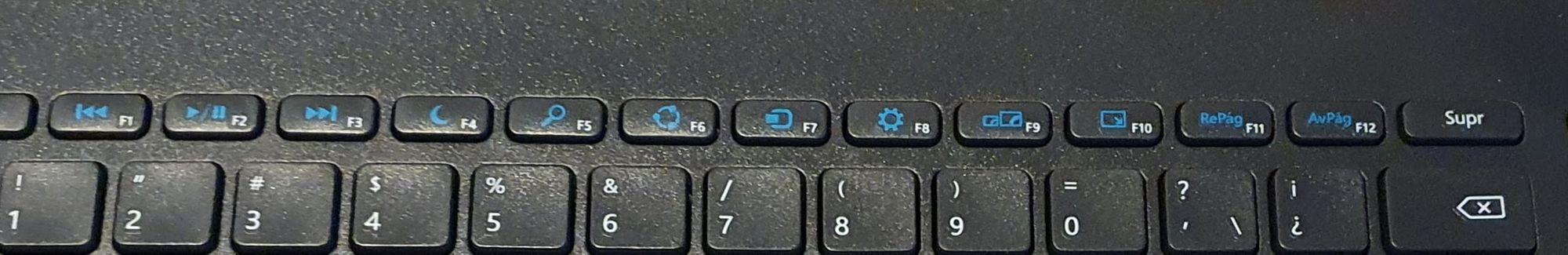 Algunas de las teclas de función especiales (en azul) no funcionan en Mac Os X