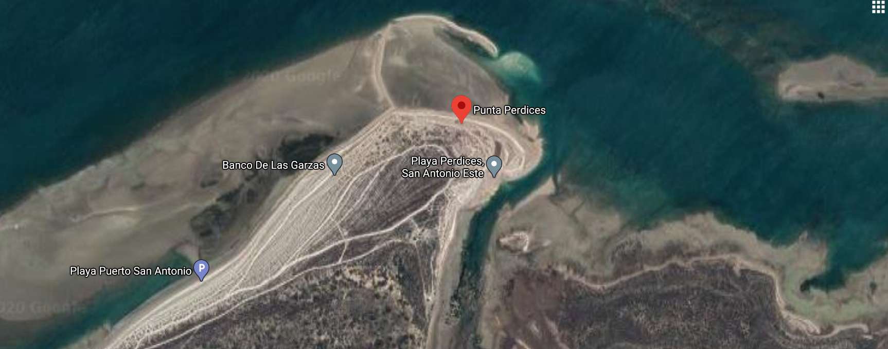 Punta Perdices desde Google Maps