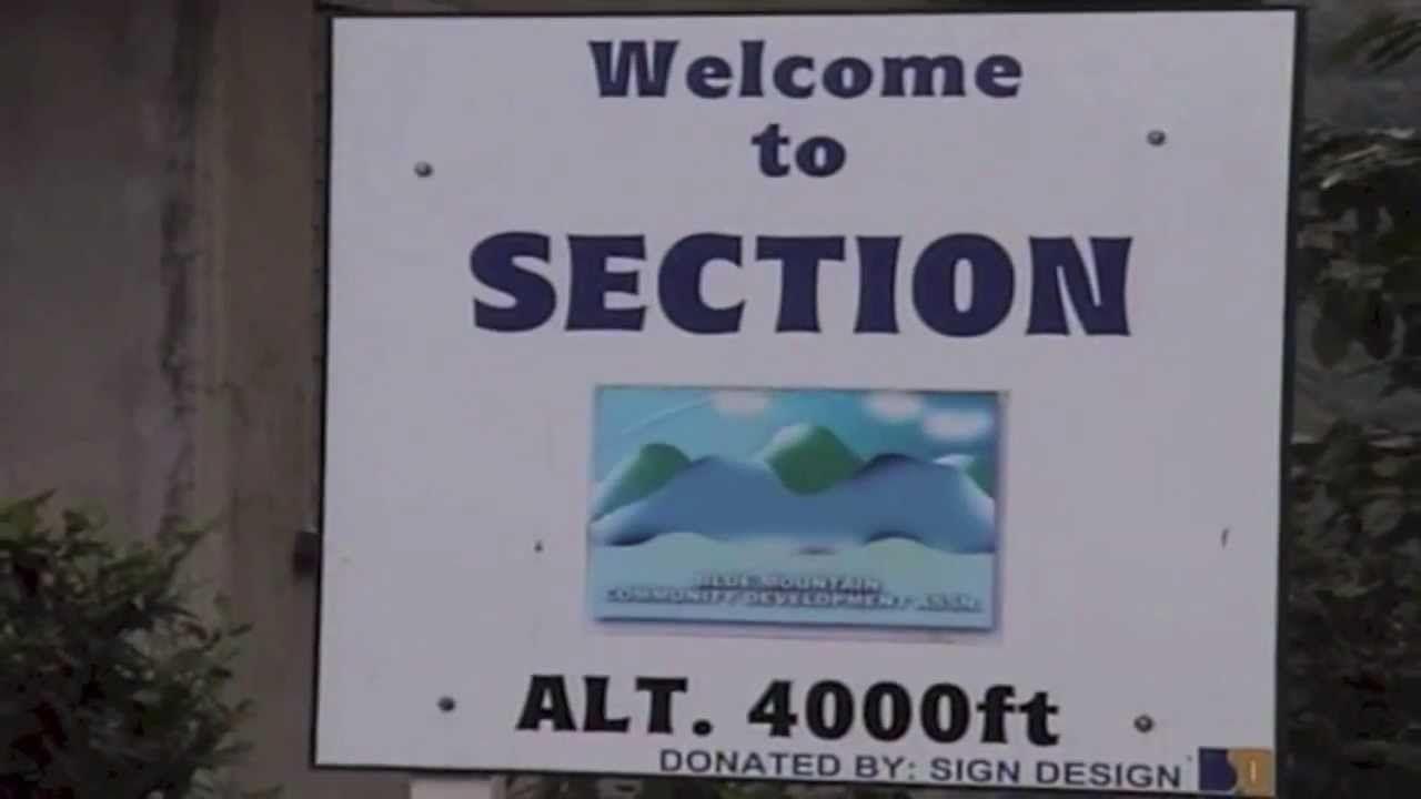 Paraje de Section, en las Blue Mountains en Jamaica
