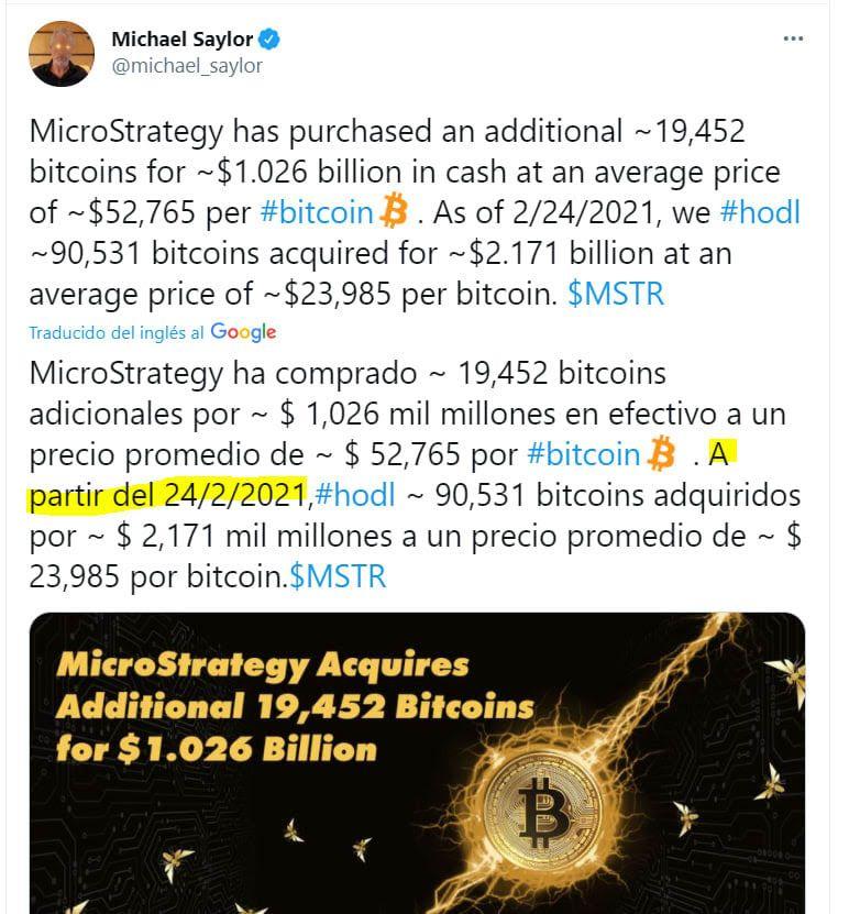 La estrategia de MicroStrategy en la compra de Bitcoins