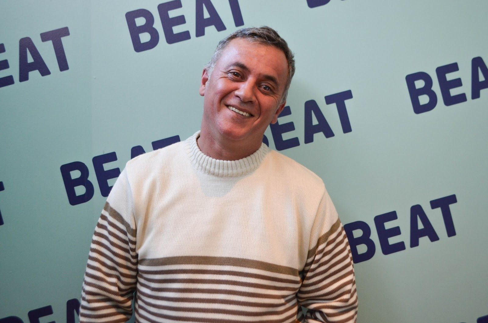 Damián Ponzo, árbitro de fútbol amateur y conductor part time de Beat